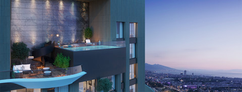 Buy luxury smart apartment with sea view in Izmir city centre